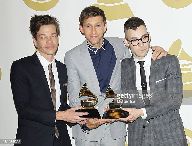 fun attends The 55th Annual GRAMMY Awards press room held at Staples Center on February 10 2013 in Los Angeles California