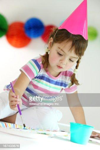 Fun birthday party : Bildbanksbilder