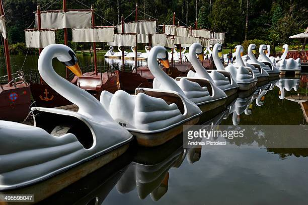 Fun boats in Gramado, Brazil