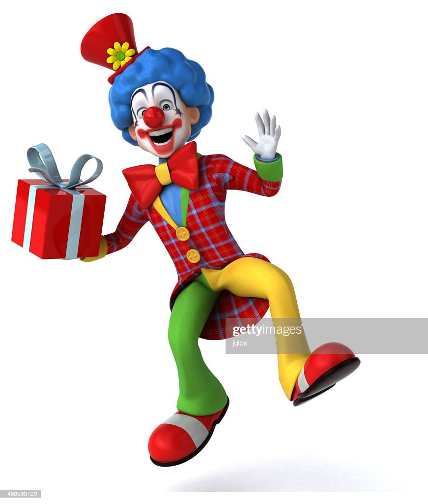 Divertente clown  : Foto stock