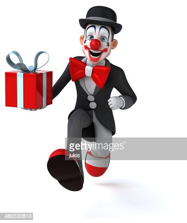 Lustigen clown : Stock-Foto
