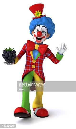 Fun clown : Bildbanksbilder