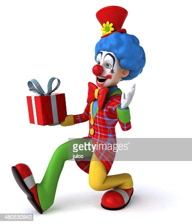 Fun clown : Stockfoto