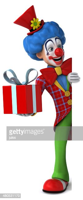 Fun clown : Stockfoto