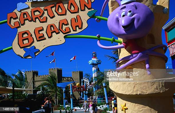 Fun for kids at Cartoon Beach at Sea World on the Gold Coast