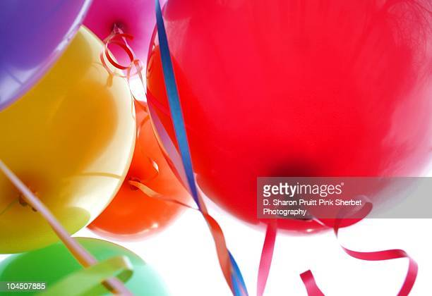 Fun Happy Rainbow Birthday Party Balloons