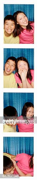 Fun in a photo booth