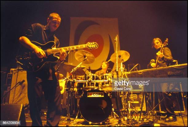 Fun Lovin' Criminals performing at Hammerstein Ballroom New York on 9 October 1997 Huey Morgan Stephen Borgovini and Brian Leiser