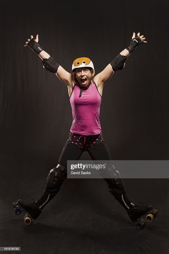 Fun on roller skates : Stock-Foto
