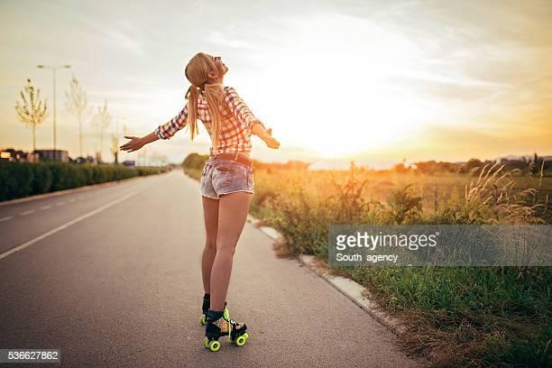 Fun on roller skates