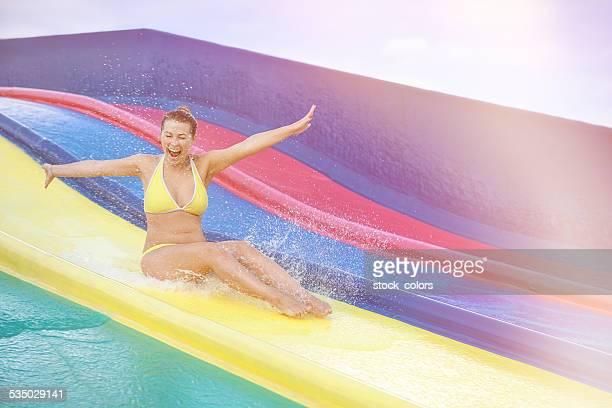 Spaß auf der Wasserrutsche
