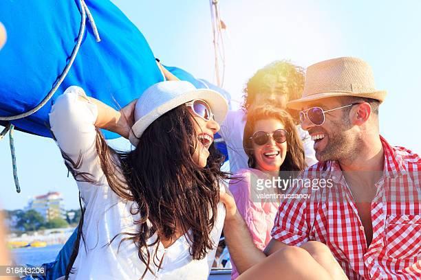 Fun on yacht