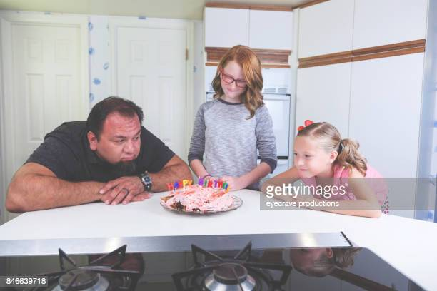 Fun parenting children Birthday cake fail