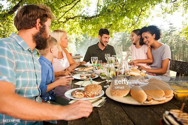 Fun picnic outdoors
