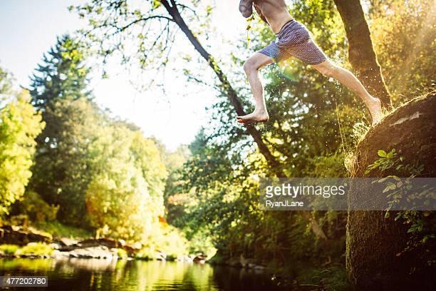 Fun Summer Water Play in River