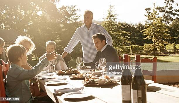 Divertido vezes e reuniões de família
