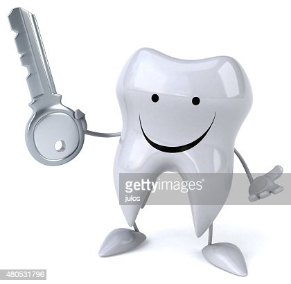 Fun tooth : Stockfoto