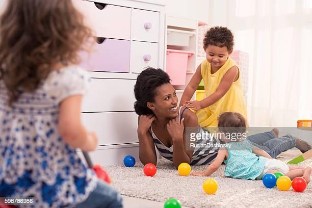 Diversión con mommy.