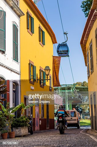 Funchal cablecar ascending up from station