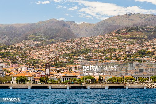 Funchal harbor seen from sea