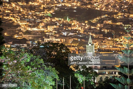 Funchal, Madeira cityscape, night