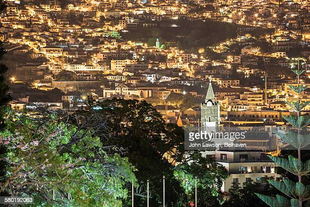 Funchal, Madeira cityscape, night