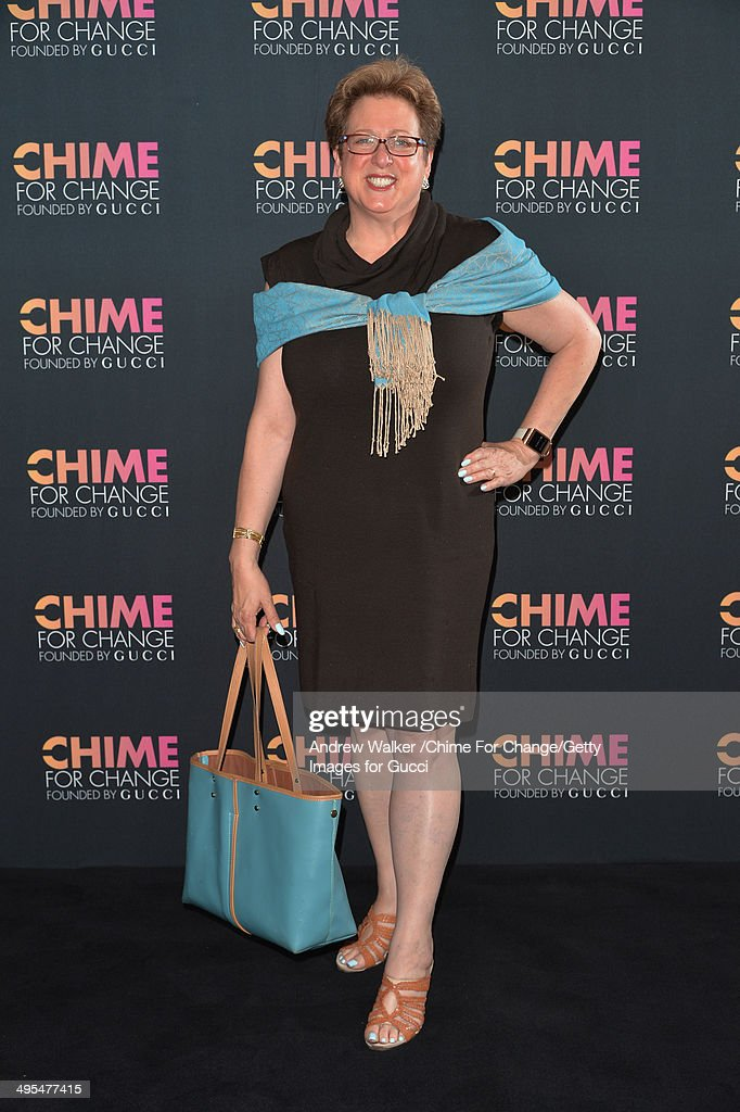 S Fund for UNICEF President and CEO Caryl Stern attends the CHIME FOR CHANGE OneYear Anniversary Event hosted by Gucci Creative Director Frida...