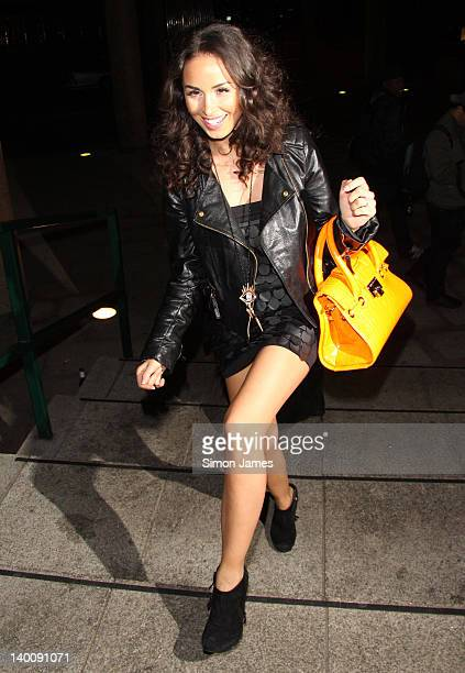 Funda Onal seen arriving at the Sky bar Millbank Tower on February 27 2012 in London England