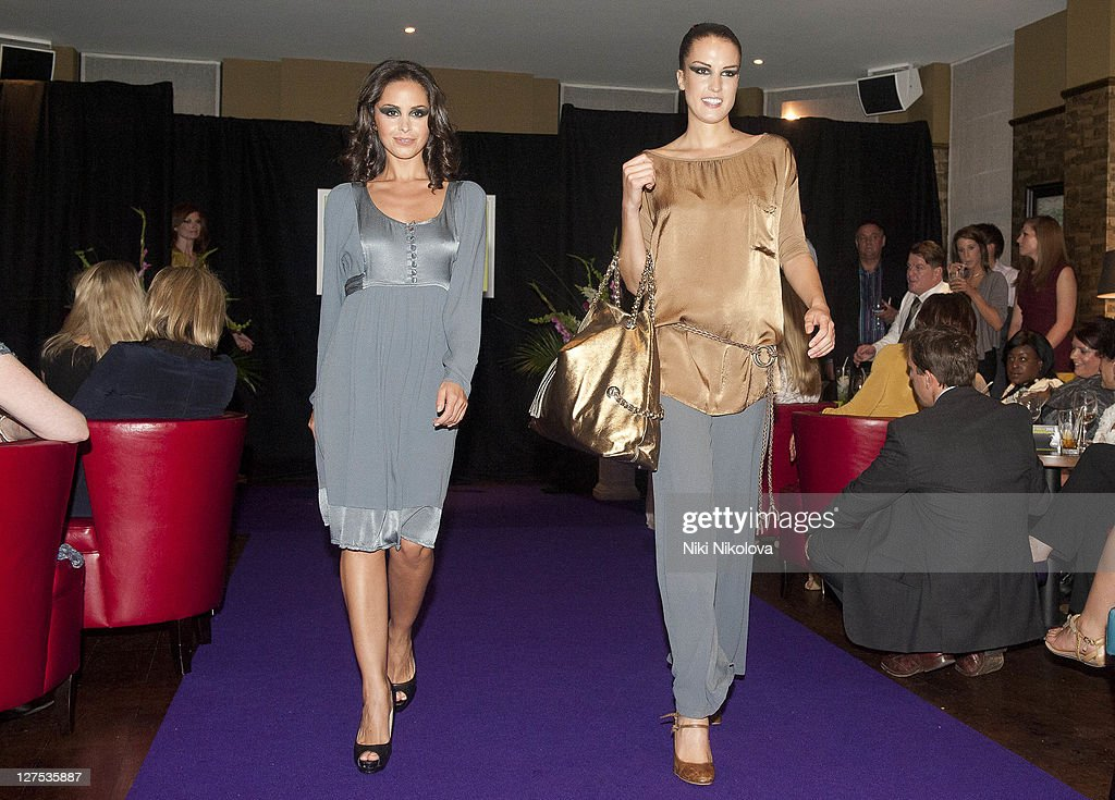 Funda Onal (L) walks the runway during Catwalk @ Kings Road at beaufort house on September 28, 2011 in London, England.