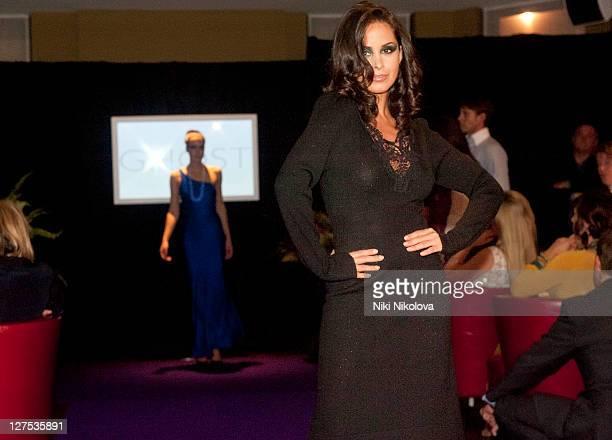 Funda Onal walks the runway during Catwalk @ Kings Road at beaufort house on September 28 2011 in London England