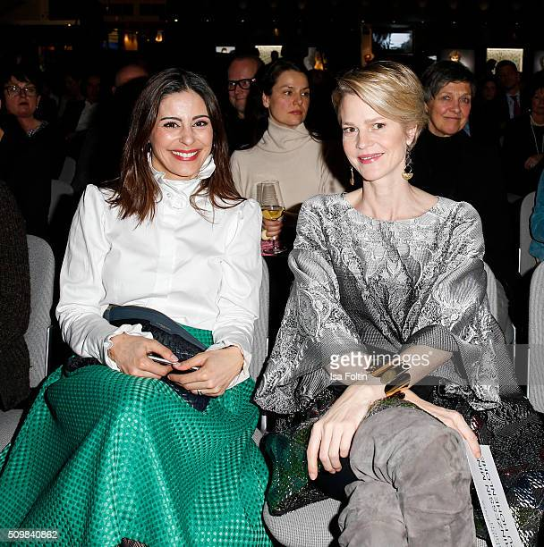 Funda Vanroy and Minzi zu Hohenlohe attend the Inhorgenta Opening Show Party on February 12 2016 in Munich Germany