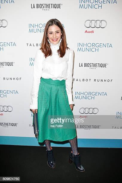 Funda Vanroy attends the Inhorgenta Opening Show Party on February 12 2016 in Munich Germany