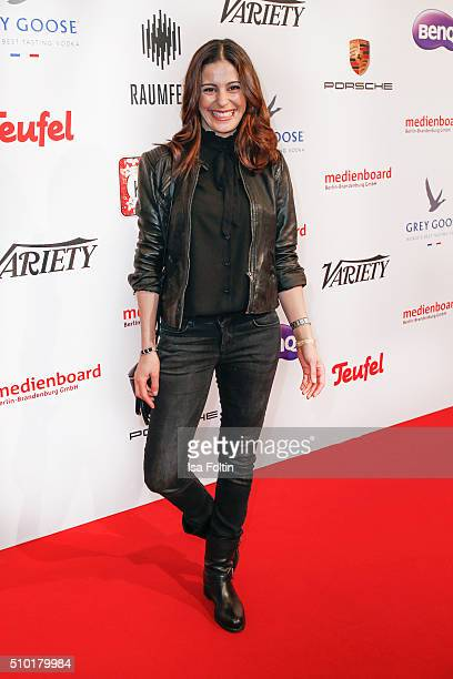 Funda Vanroy attends the Medienboard BerlinBrandenburg Reception on February 13 2016 in Berlin Germany