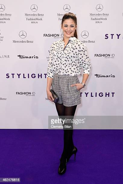 Funda Vanroy attends the Stylight Fashion Blogger Awards at Brandenburg Gate on January 13 2014 in Berlin Germany