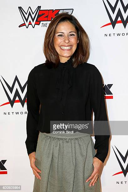 Funda Vanroy attends Tim Wiese's first WWE fight at Olympiahalle on November 3 2016 in Munich Germany