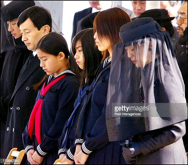 Funeral ceremony for Prince Takamado In Tokyo Japan On November 29 2002 Princess Hisako widow of late Prince Takamado her daughters Tsuguko Noriko...