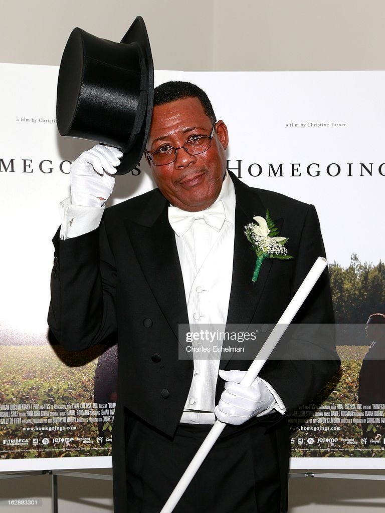 Funeral director Isaiah Owens attends the 'Homegoings' premiere at The Museum of Modern Art on February 28, 2013 in New York City.