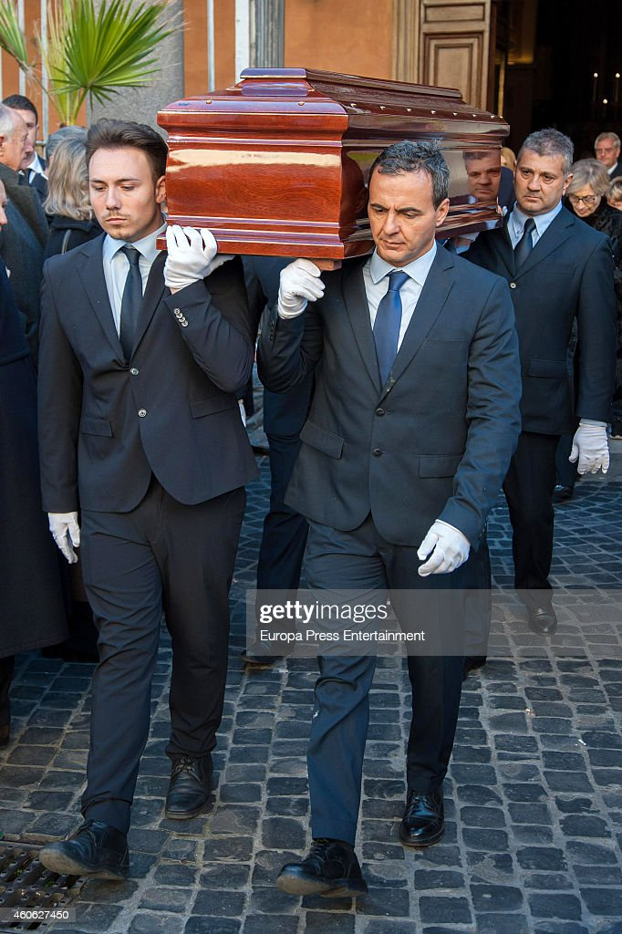 Funeral for Prince of Civitella-Cesi, Marco Torlonia, at San Lorenzo in Lucina church on December 9, 2014 in Rome, Italy.