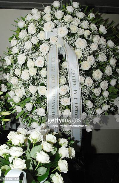 Funeral for the Spanish designer Manuel Pertegaz on August 31 2014 in Barcelona Spain