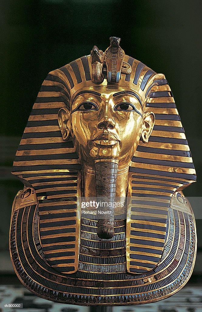 Funeral Mask of Tutankhamun : Stock Photo