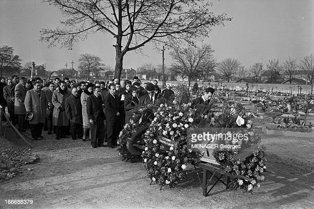 Funeral Of Antoine Cerdan Marcel Cerdan Brother REIMS le 23 décembre 1964 Enterrement d'Antoine CERDAN frère du boxeur Marcel CERDAN décédé dans un...