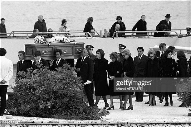 Funeral Of Aristote Onassis Funeral Cortege Led By Christina Onassis In Greece On March 18 1954