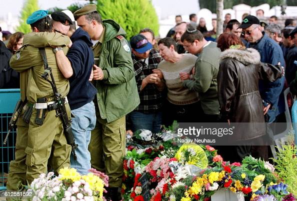 Funeral of Cochava Polonski one of the victims killed in the bus at the Netzarim crossroads