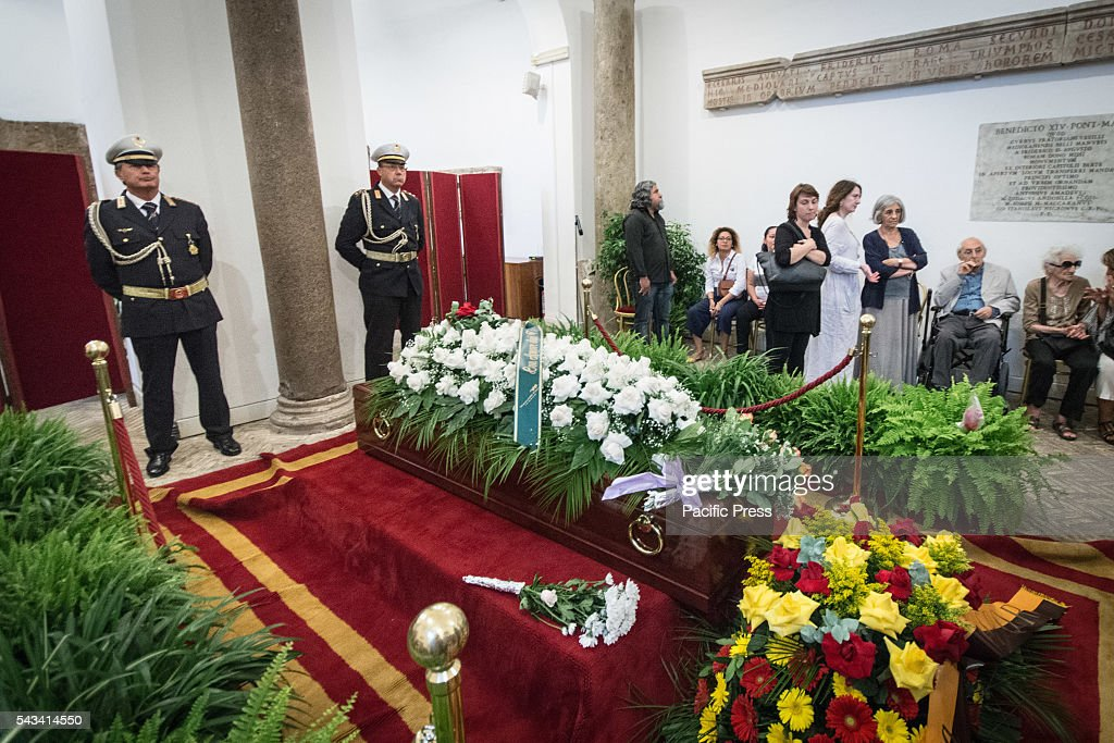 Funeral of Director Giuseppe Ferrara in Rome. Burning chamber on Capitol Hill for the director Giuseppe Ferrara, to take part in the Sala del Carroccio, also joined were the mayor of Rome Virginia Raggi, the director Giuseppe Tornatore and Don Luigi Ciotti of Libera.