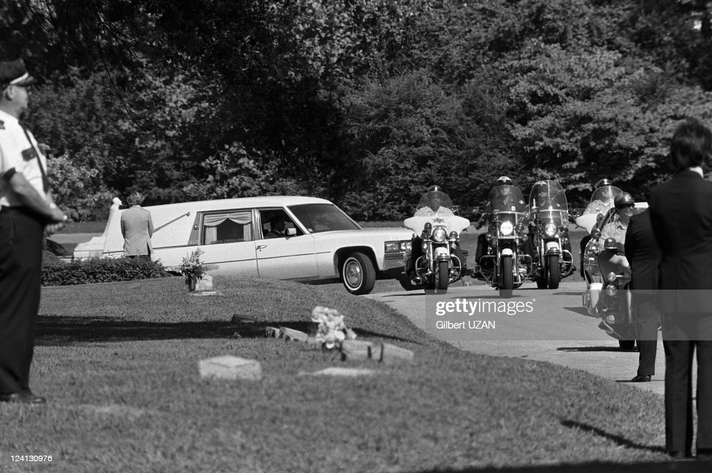 Funeral of Elvis Presley in Memphis (Tennessee), United States on August 18, 1977.