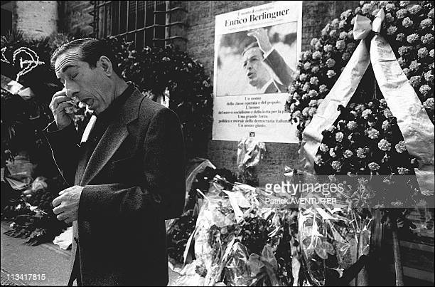 Funeral Of Enrico Berlinguer Rome Color And Nb 217062 On June 14th 1984 In RomeItaly