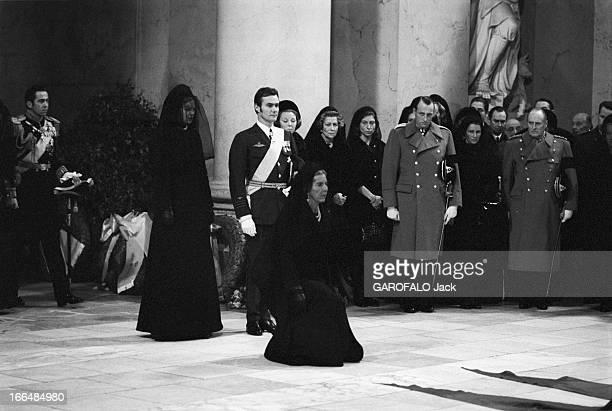 Funeral Of King Frederic Ix Of Denmark Copenhague 25 Janvier 1972 Lors des obsèques du roi Frédéric IX DU DANEMARK dans la chapelle du château de...