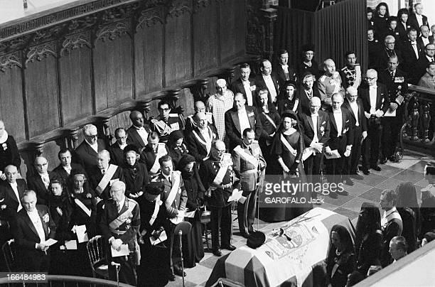 Funeral Of King Frederic Ix Of Denmark Copenhague 25 Janvier 1972 Lors des obsèques du roi Frédéric IX DU DANEMARK dans la cathédrale de Roskilde...