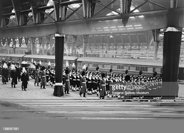 Funeral of King George VI at Paddington Station 1952