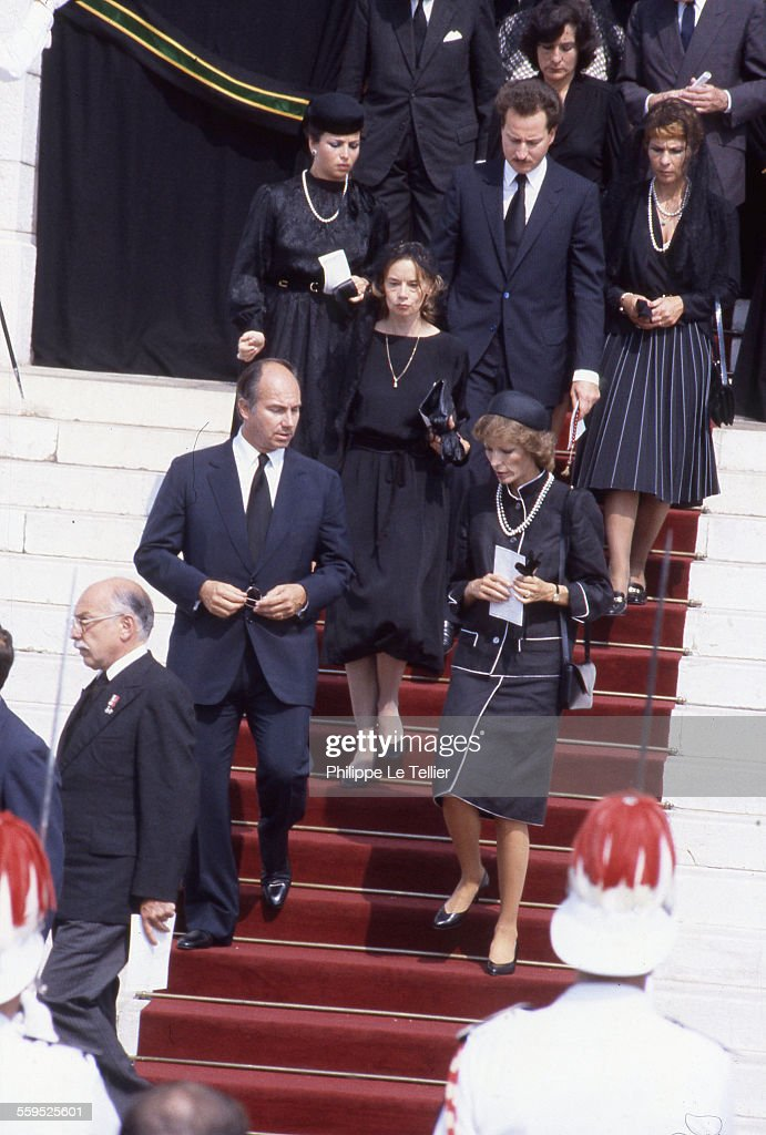 Funeral of Princess Grace of Monaco; Cathedral of Monaco, . Karim Aga Khan.